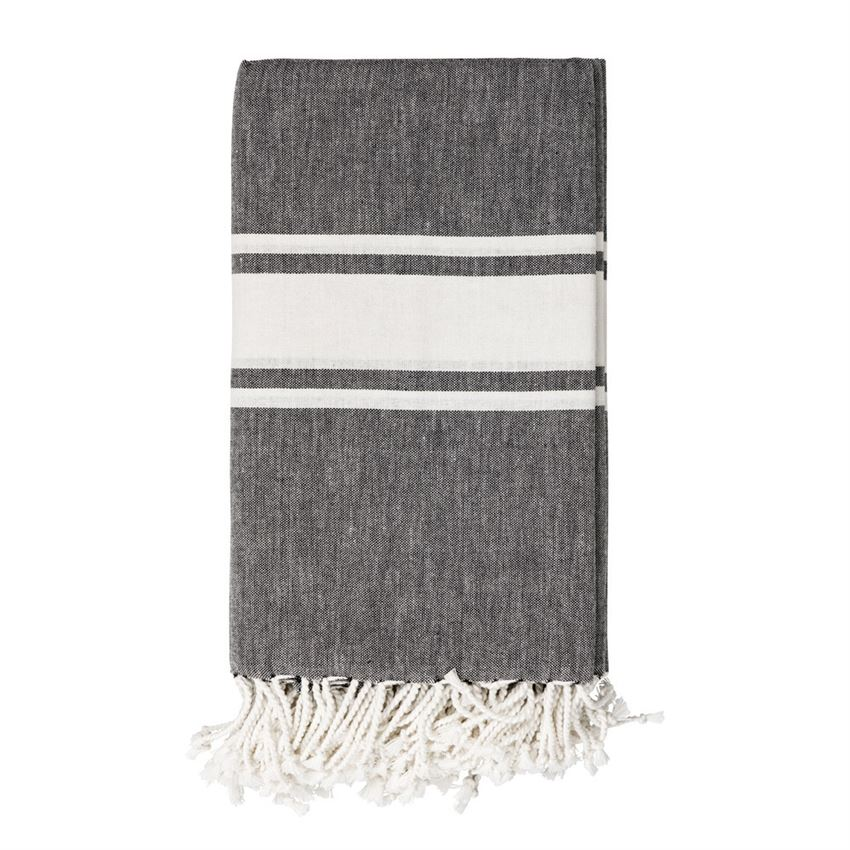 Black & White Striped Throw