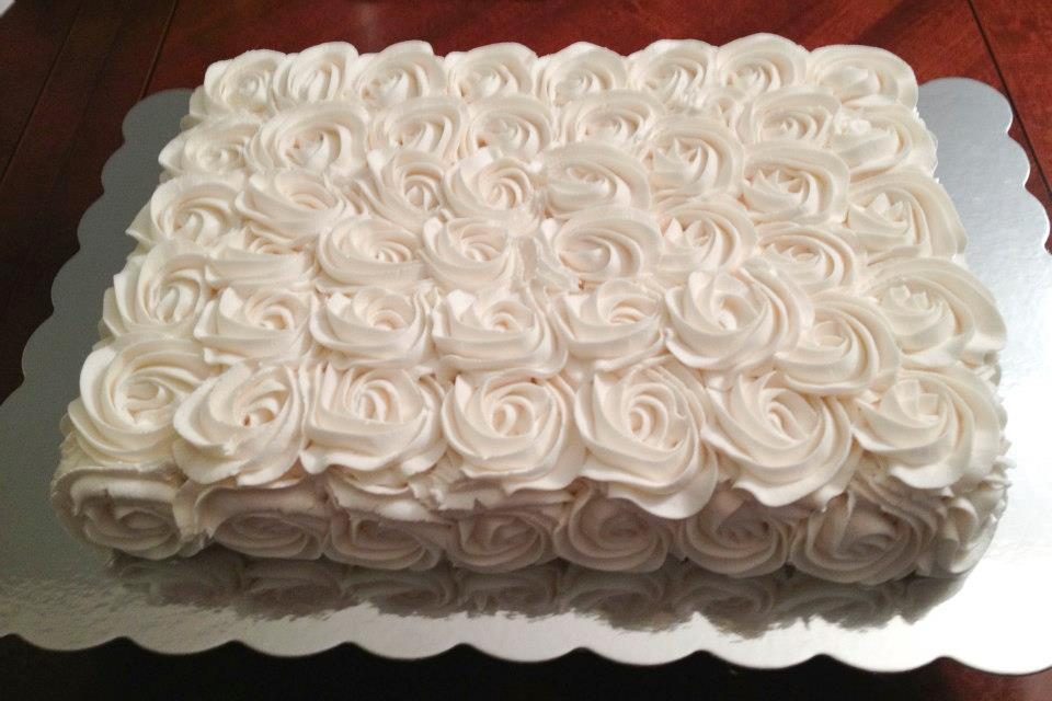 Sheet Cake Rosettes