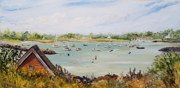 Bright Morning at Little Harbor Oil Painting