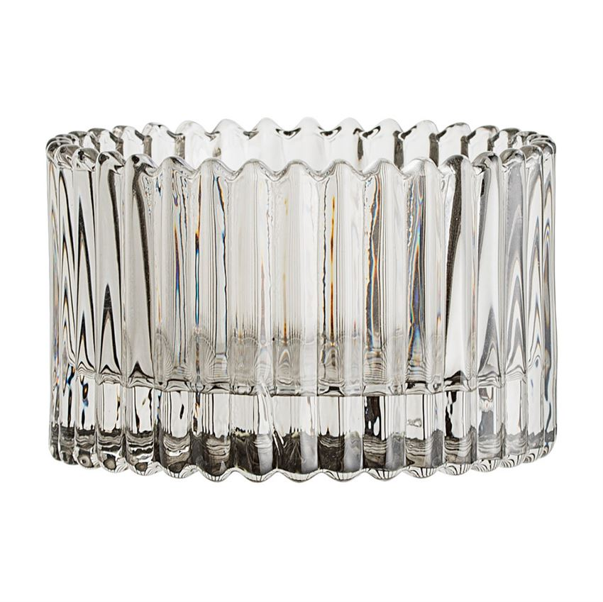 Gray Glass Tealight Holder