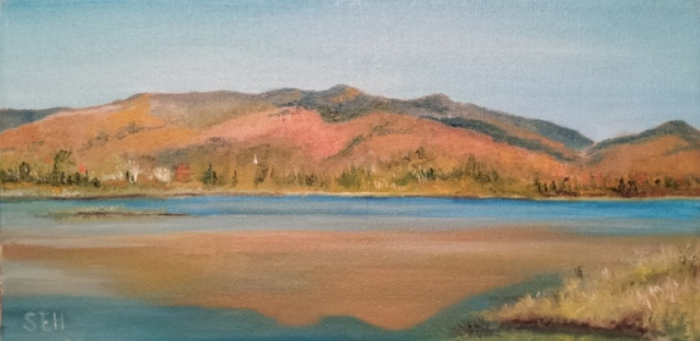 Cherry Pond Jefferson Oil Painting