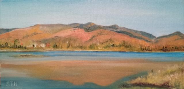 Cherry Pond Jefferson Oil Painting
