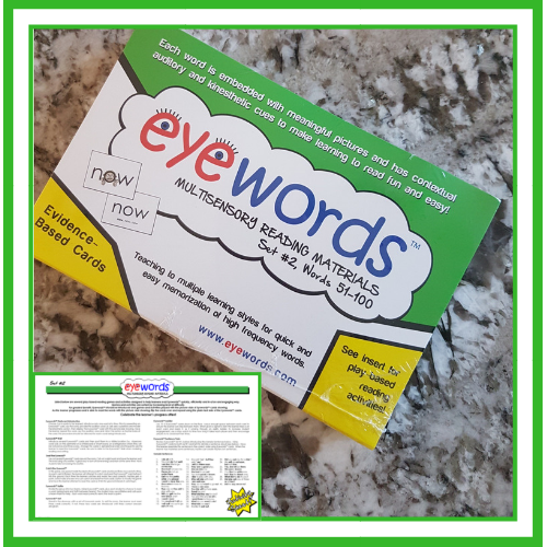 Eyewords Multisensory Sight Word Cards, Set #2, Words 51-100