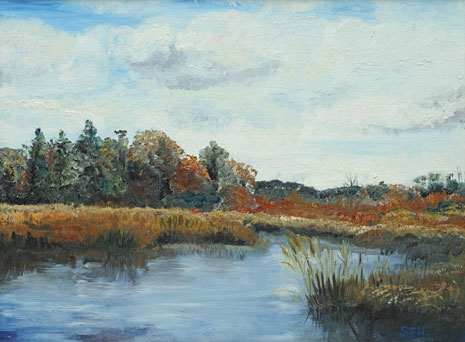 Massabesic View Oil Painting