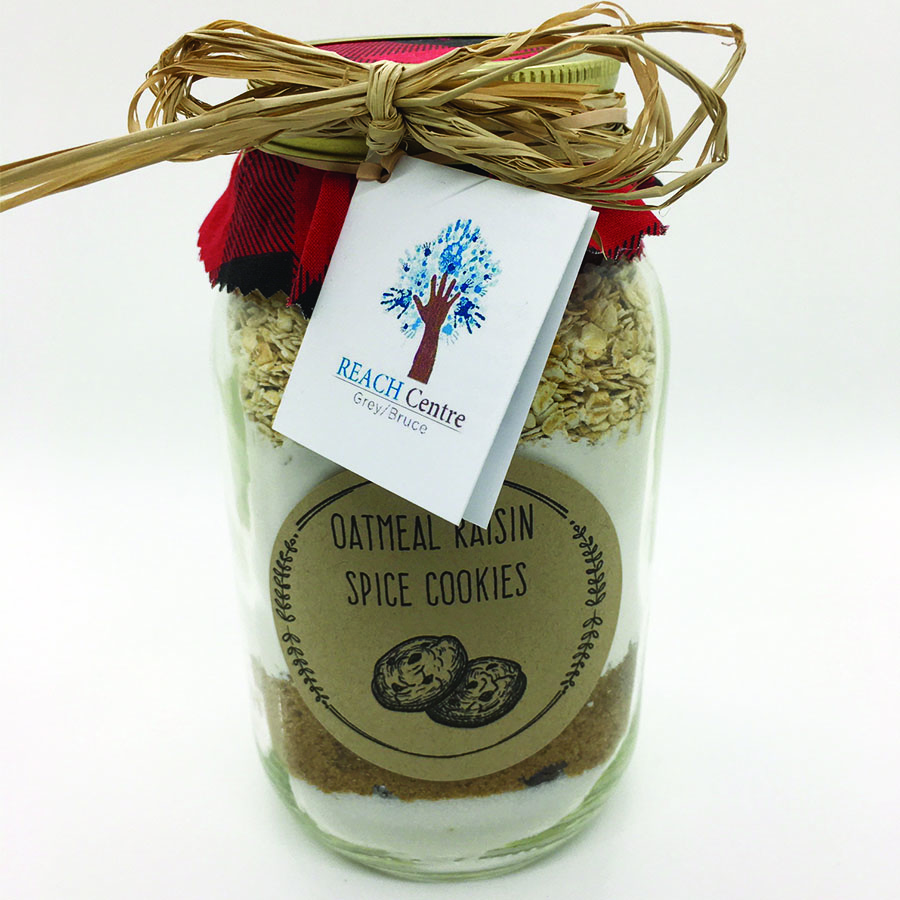 Oatmeal Raisin Spice Cookie in a Jar