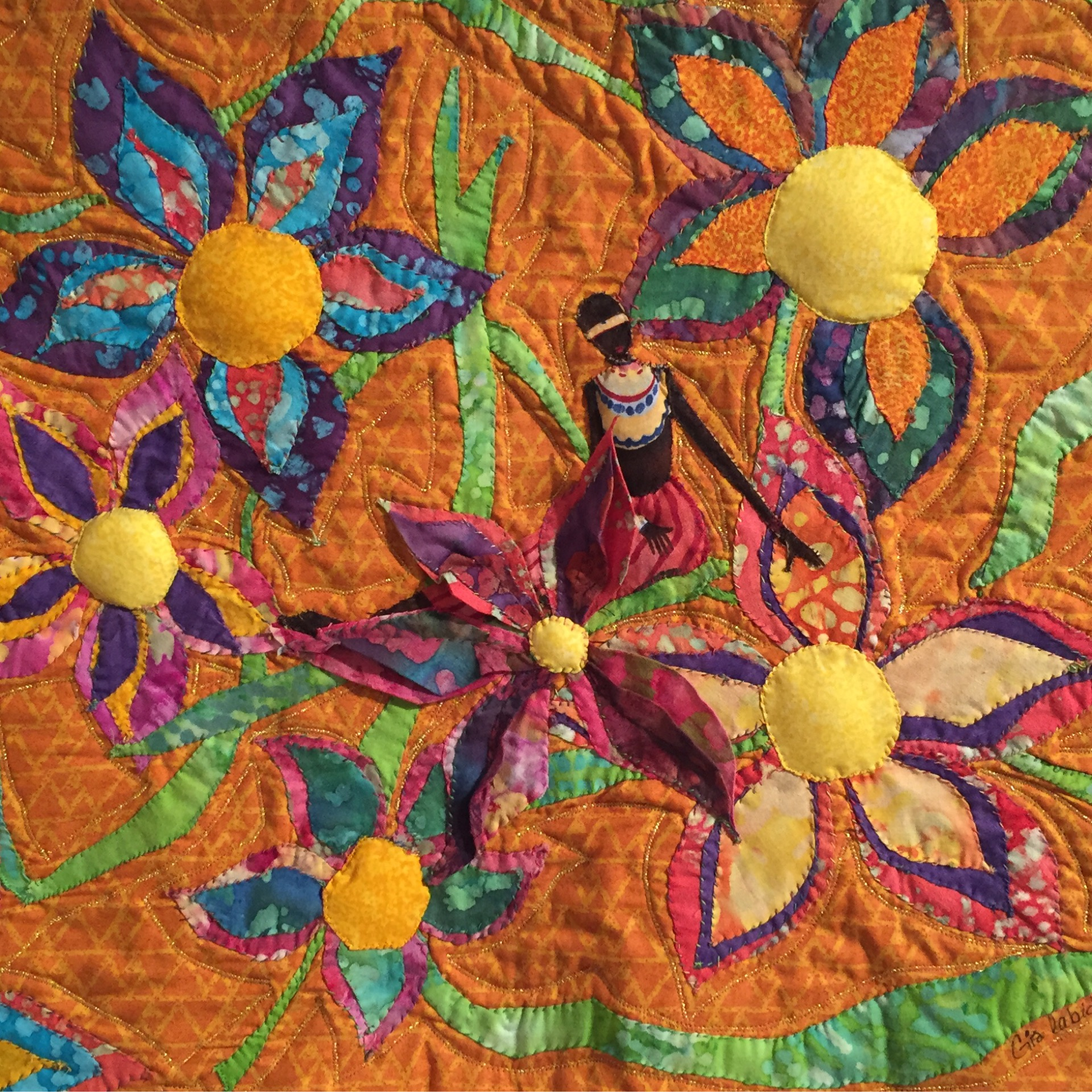 Quot Ancestor S Garden 1 Quot By Orgia Labidi Quilted Wall