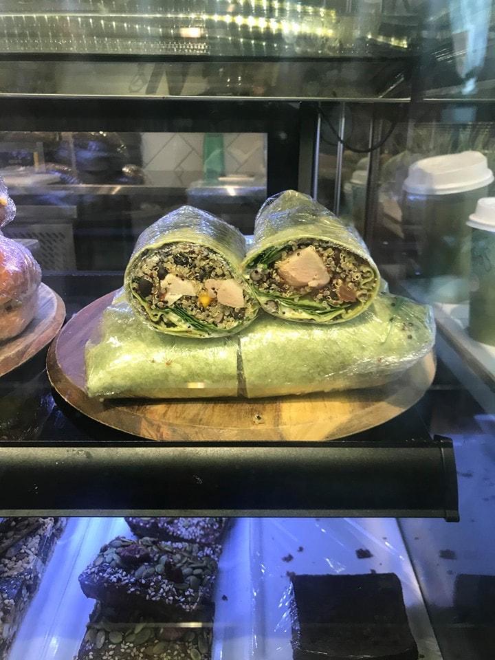 Avocado & Chicken Spinach Wrap