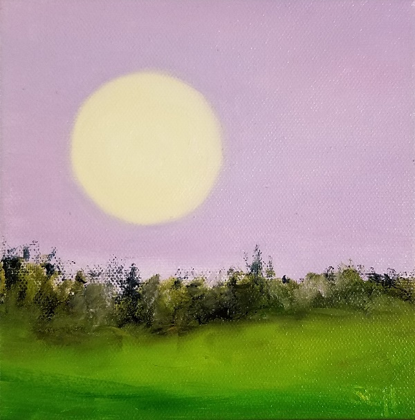 Full Flower Moon Oil Painting
