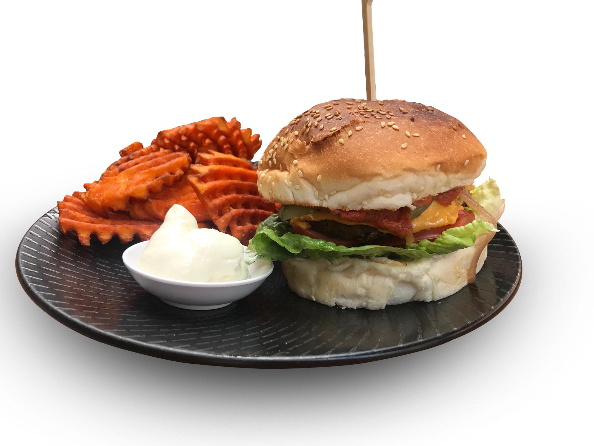 Beef-Less Burger & Fries