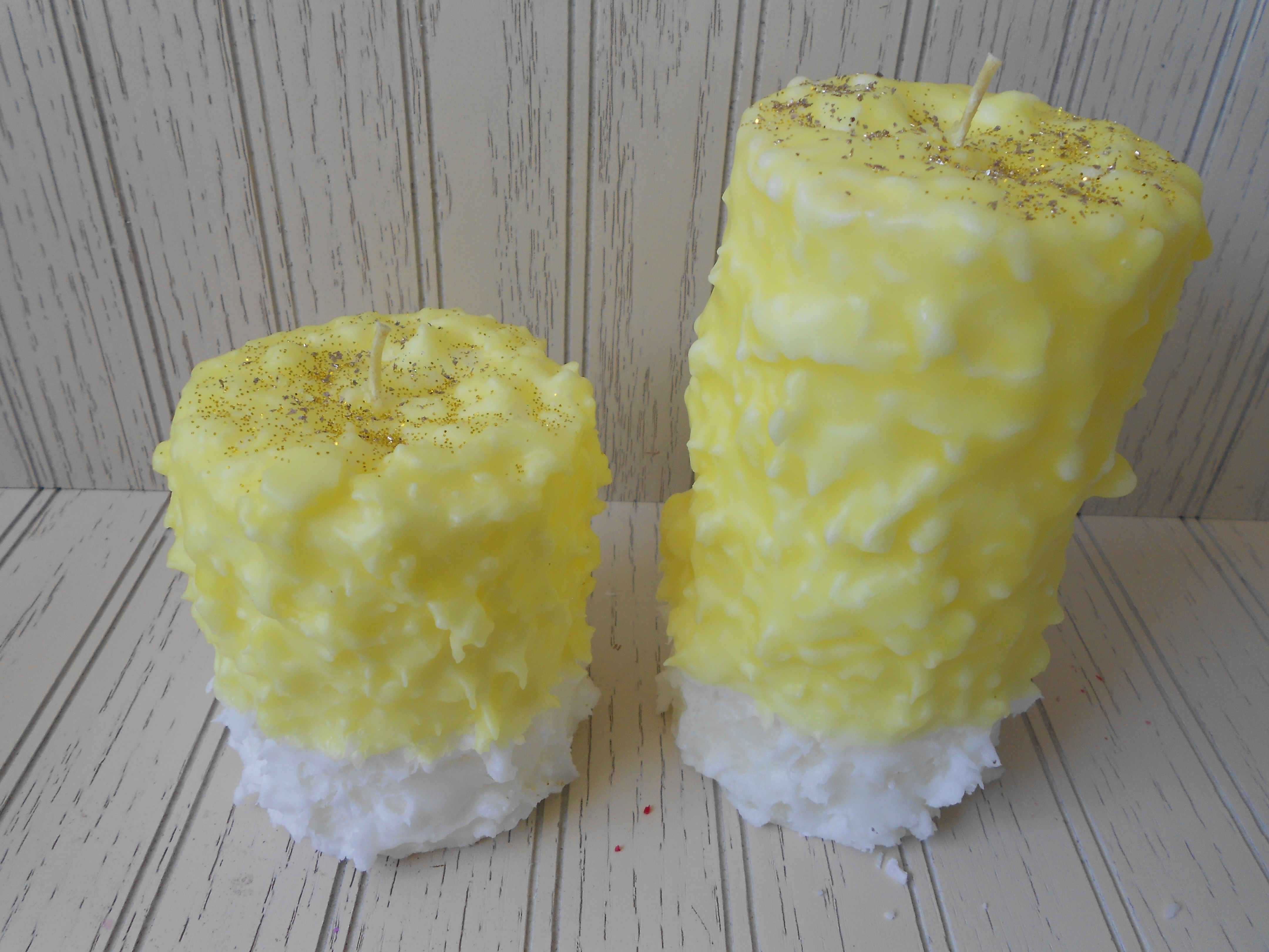 Vanilla Lemon Drop Hand Cake Candles from Stephens' Candlery