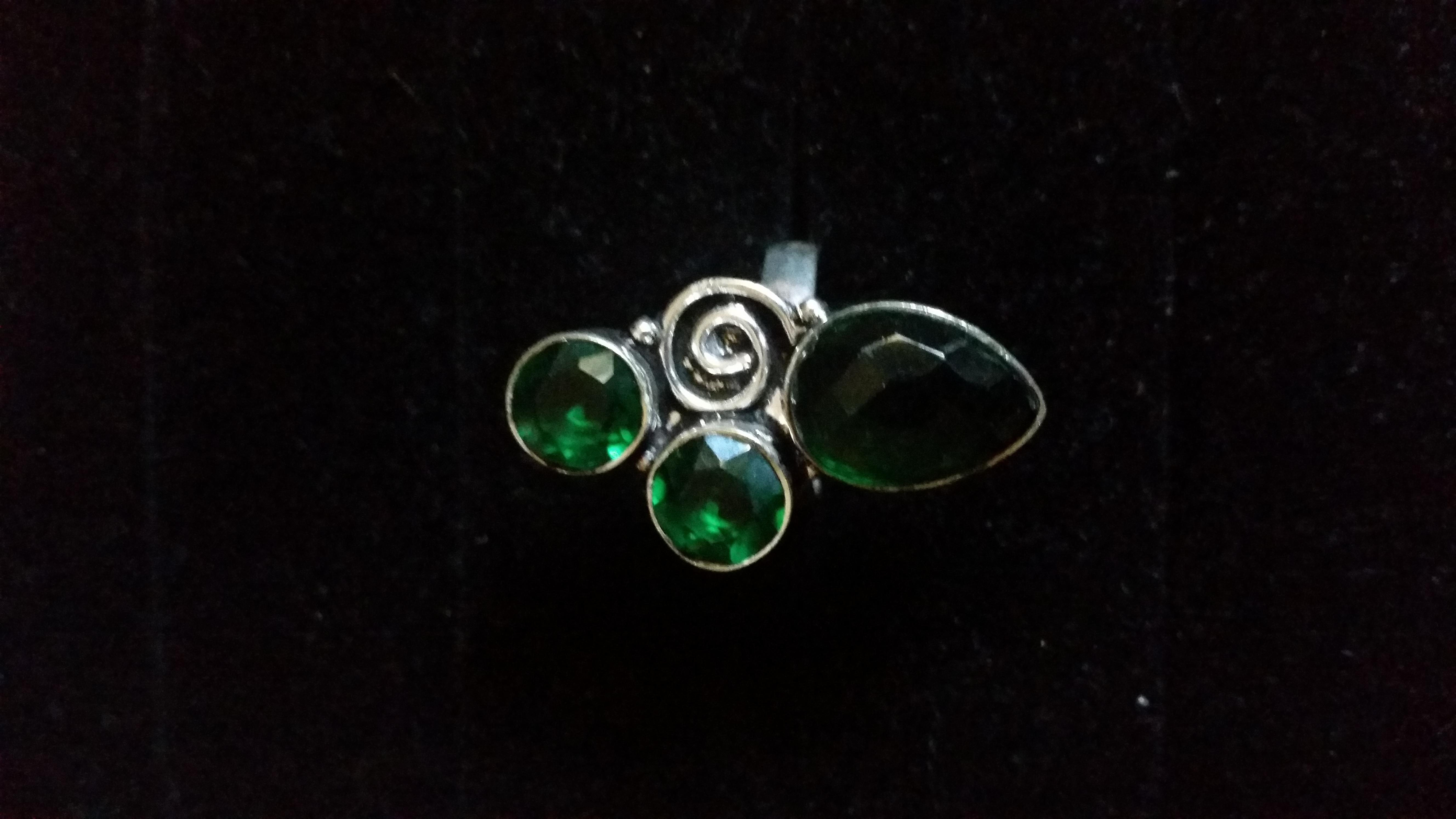 Dark Green Quartz Ring
