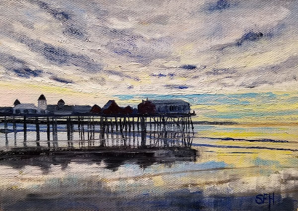 OOB Pier Oil Painting