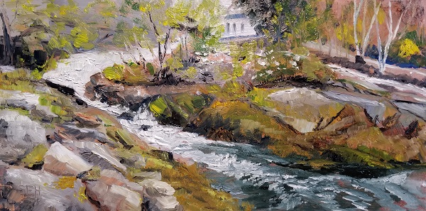 Camden Falls Oil Painting