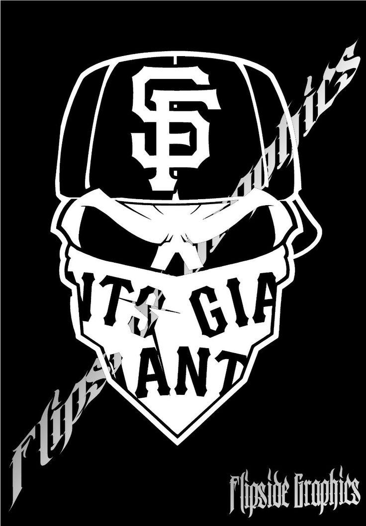 Decal San Francisco Giants Skull Bandana Cars Trucks