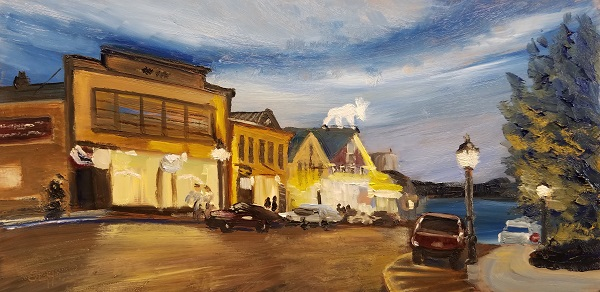 Bar Harbor Twilight Oil Painting