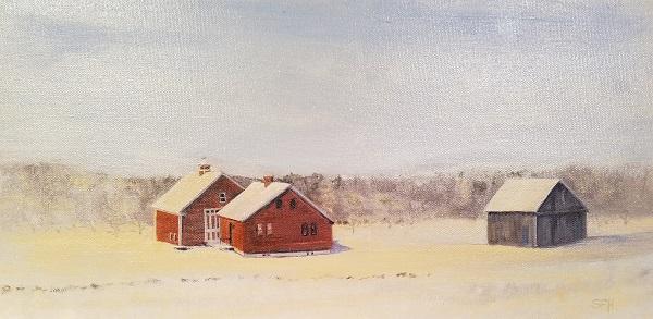 Simple Homestead Oil Painting