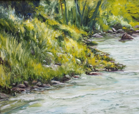 Ashuelot River Oil Painting