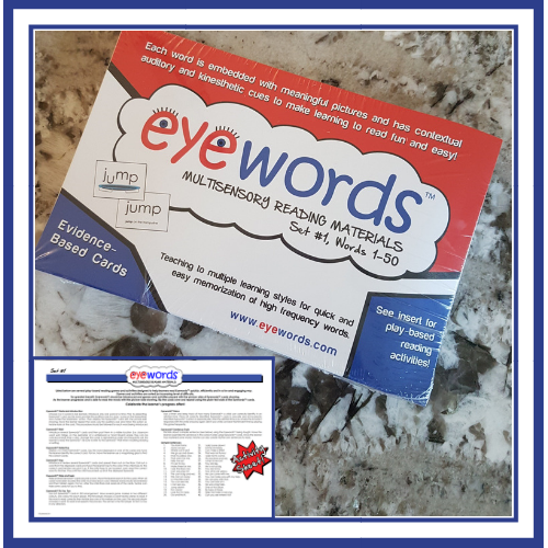 Eyewords Multisensory Sight Word Cards, Set #1, Words 1-50
