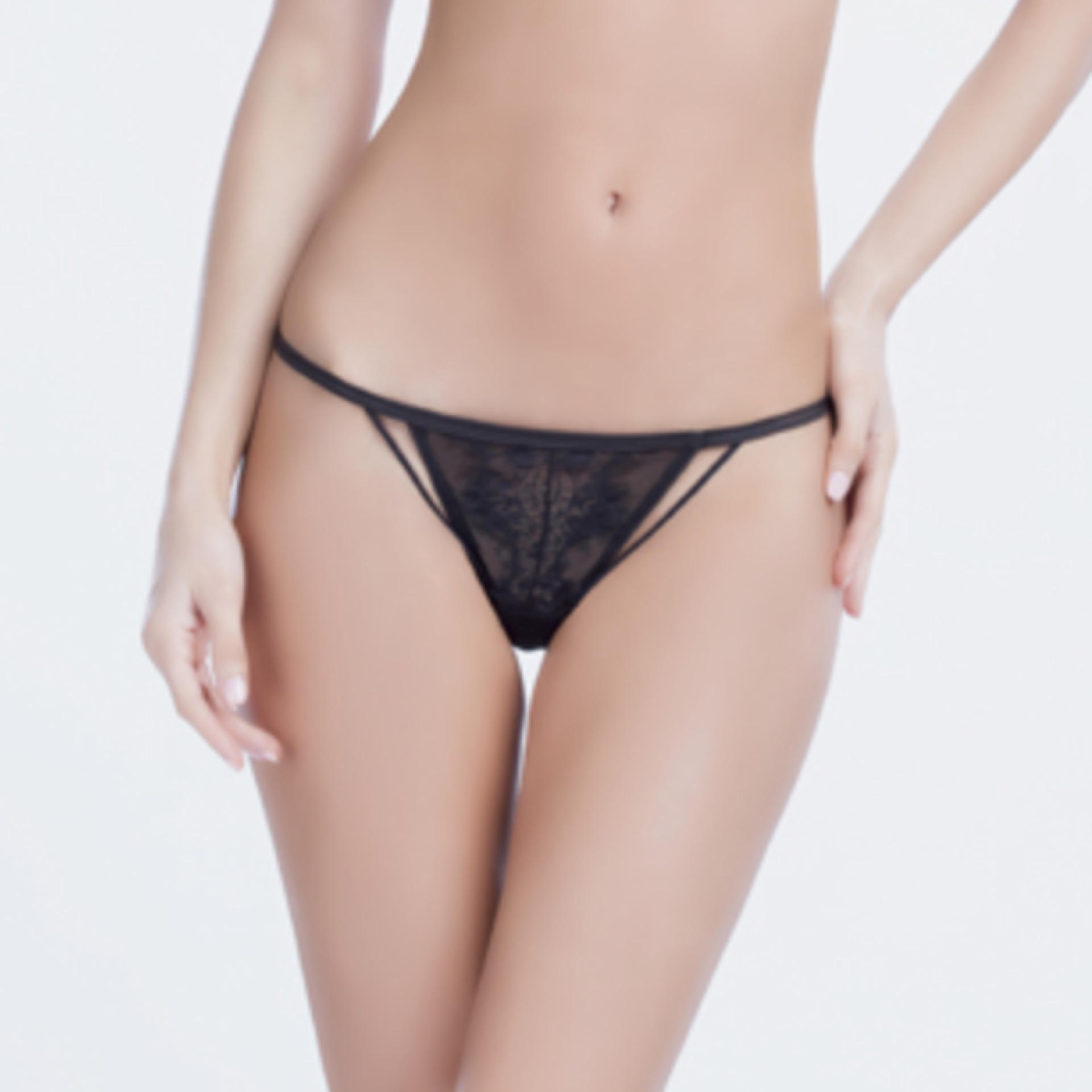 711aade5c3 Black Eyelash Lace Thong