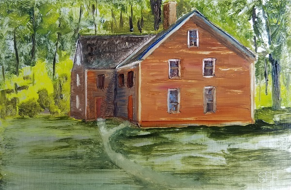 James House Oil Painting