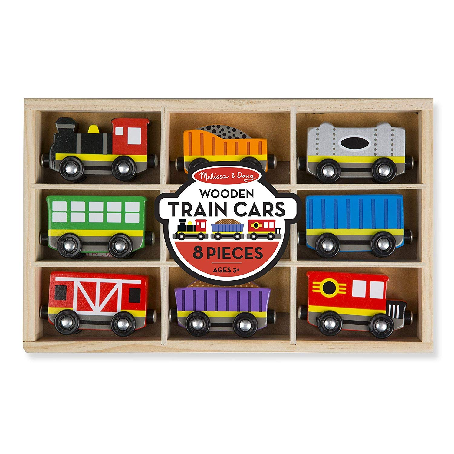 8 Wooden Train Set