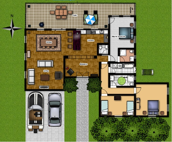 Floor planner 3d render Design your own floor plan software