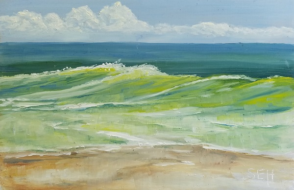 Summer Beach II Oil Painting