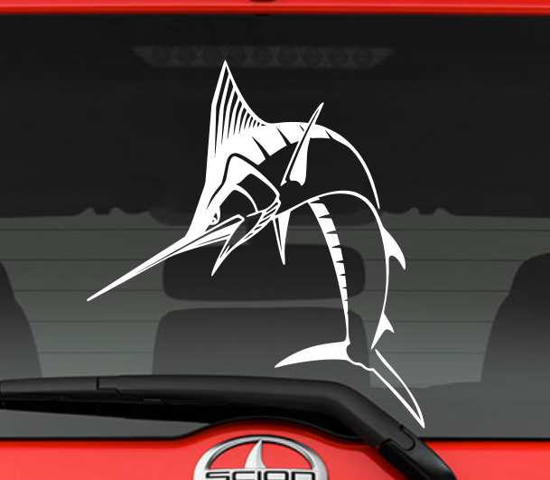 Marlin Fish Decal from Dotson Designs