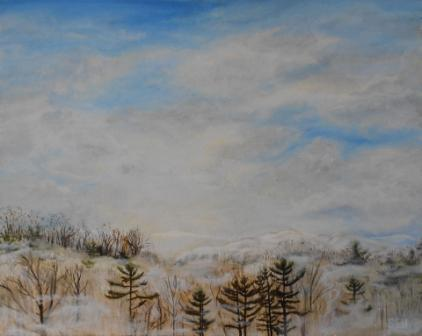 Cloud Scatter Oil Painting