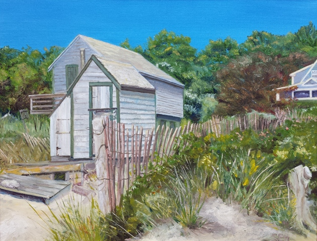 On Forest Beach Oil Painting