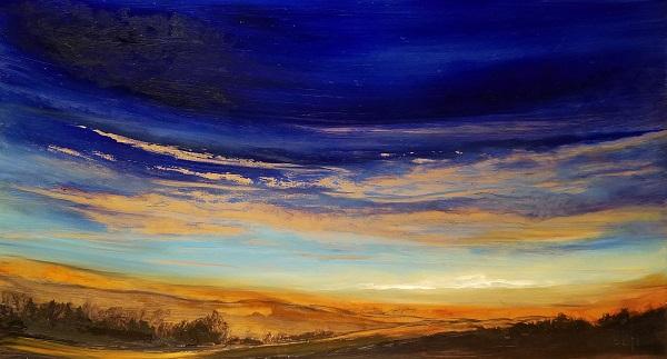 Western Glow Oil Painting