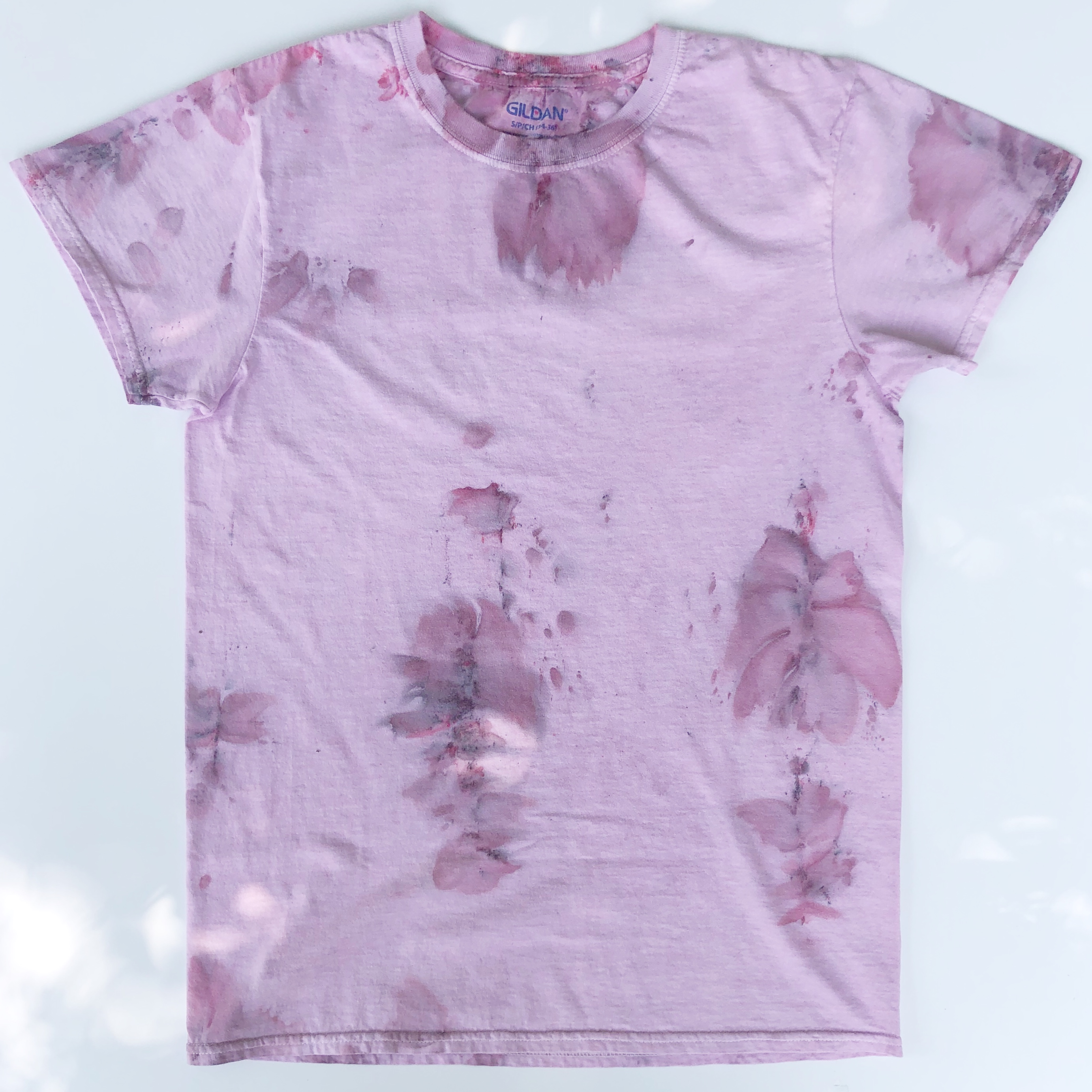 Short-Sleeve Watercolor Floral Tie Dyed T-Shirts (Made from Re-purposed Tees)