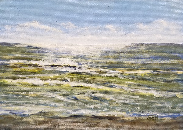 Atlantic Thursday AM Acrylic Painting