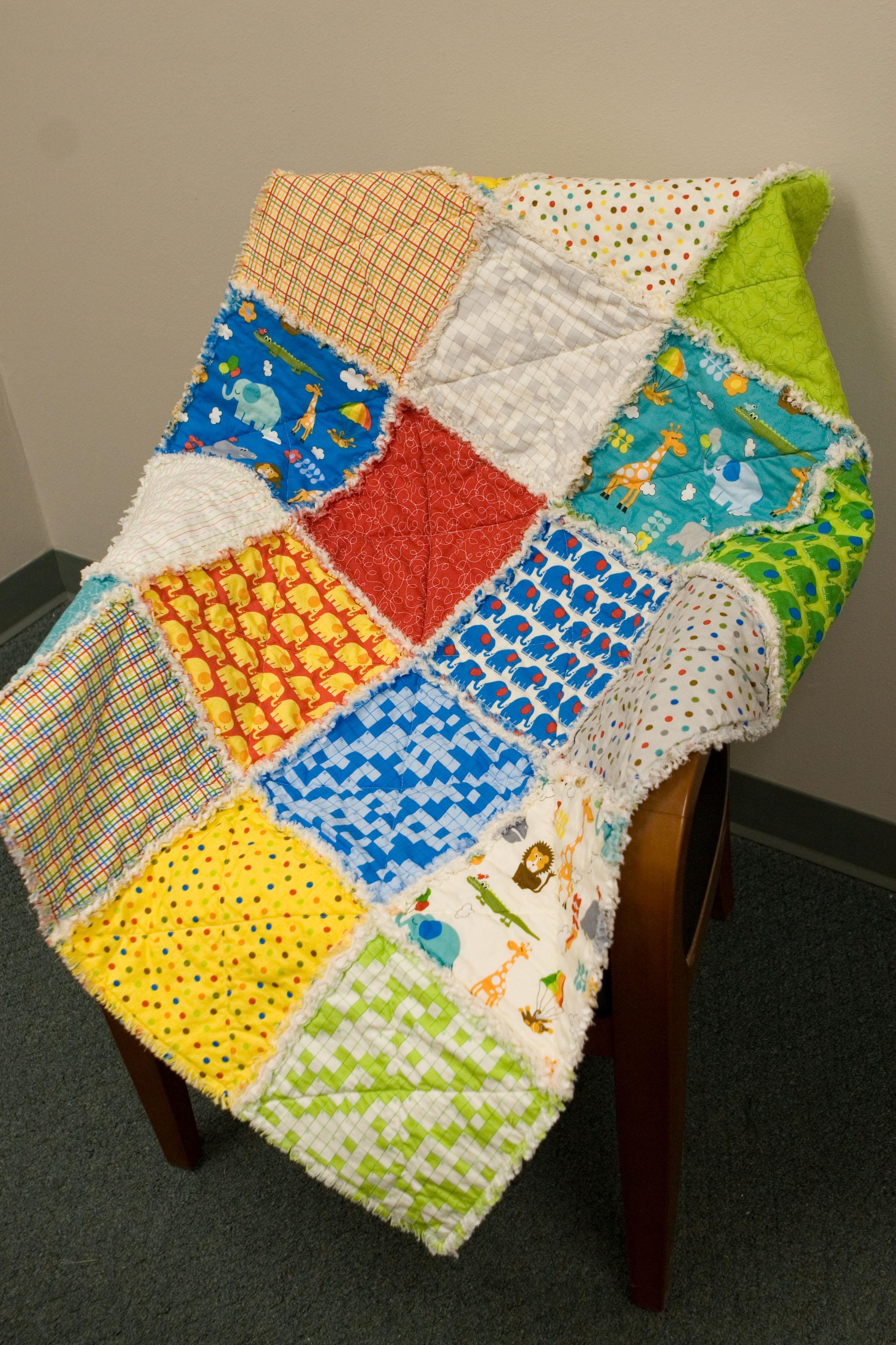 Rag Quilt - Crib size