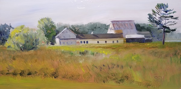Little Bay Farm Oil Painting