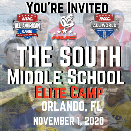 Coach Schuman's The South Middle School Elite Prospect Camp, November 1, 2020 Orlando, FL