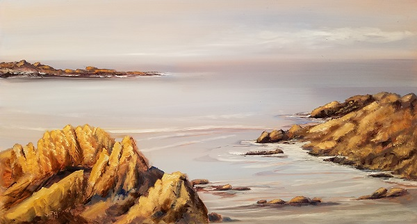 Coastal Guardians Oil Painting