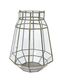 Geometric Glass Lantern, Large