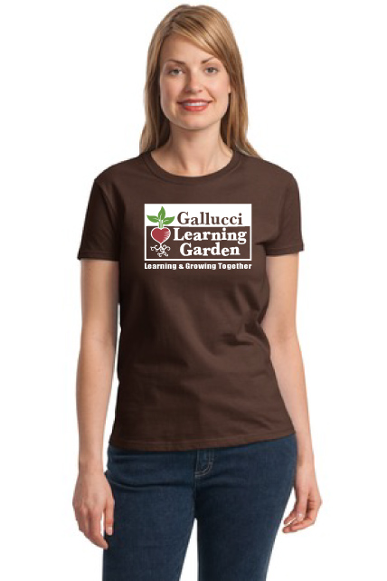 T-Shirt, Women's - Gallucci Learning Garden (brown)