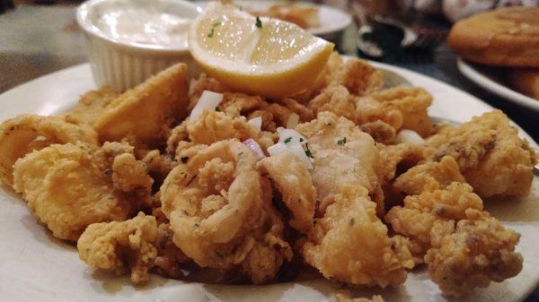 Appetizer-Now Calamari with Tzatziki