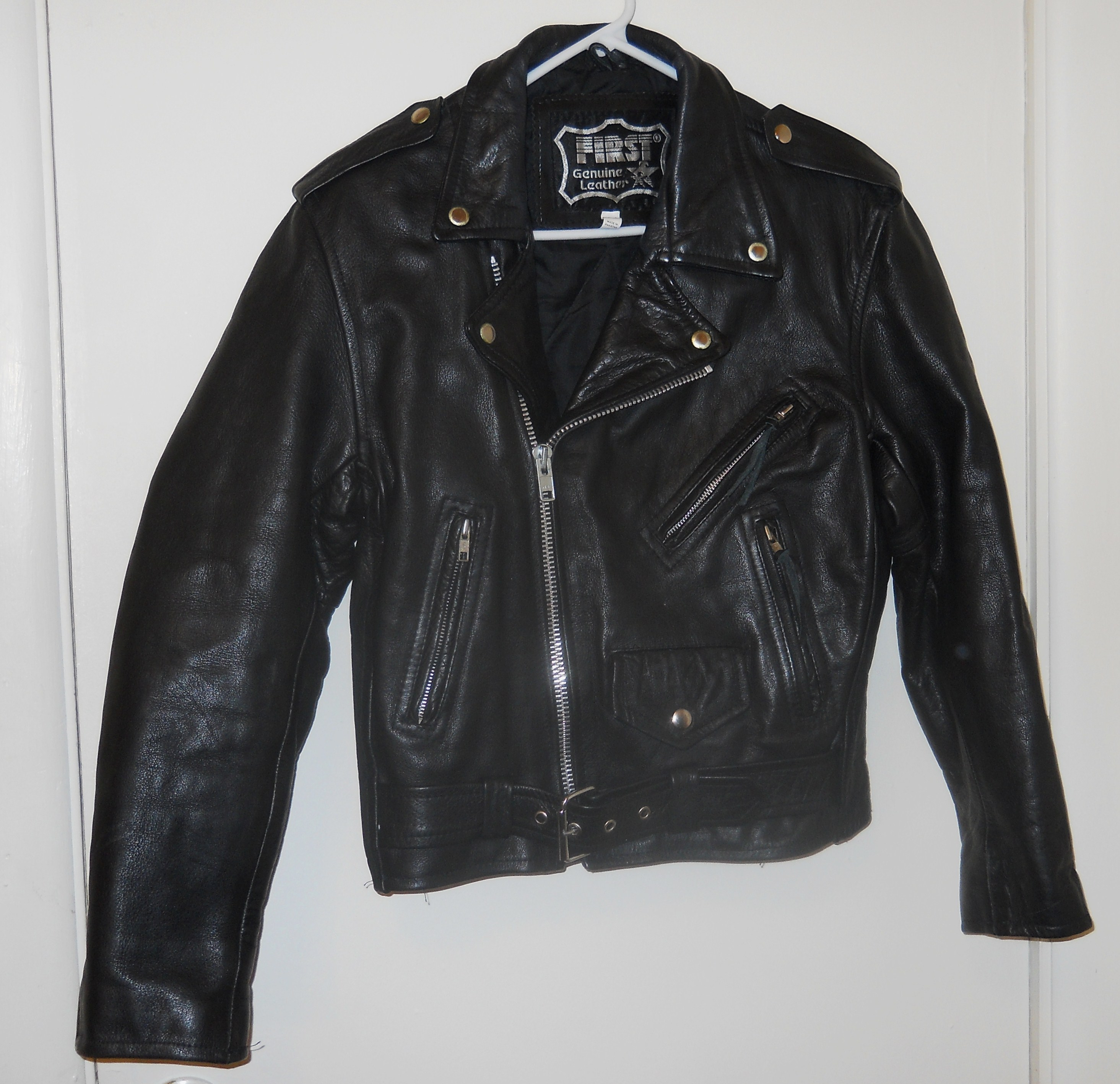 First Leather Motorcycle Jacket size 36 gently used