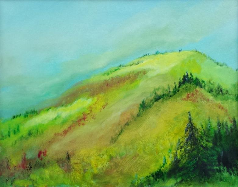 Sunlit Oil Painting