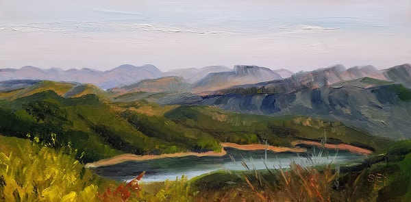 Blue Ridges Oil Painting