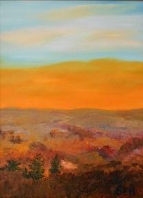 Orange Sunset Oil Painting
