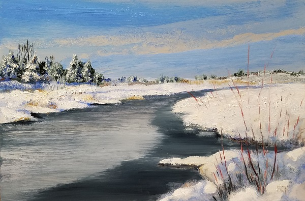 Wetland Thaw Oil Painting
