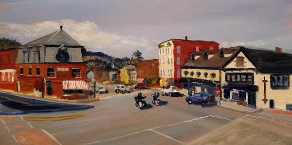 Downtown Camden Oil Painting