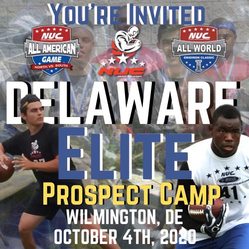 Coach Schuman's Delaware Elite invitational Football Prospect Camp, October 4th, 2020