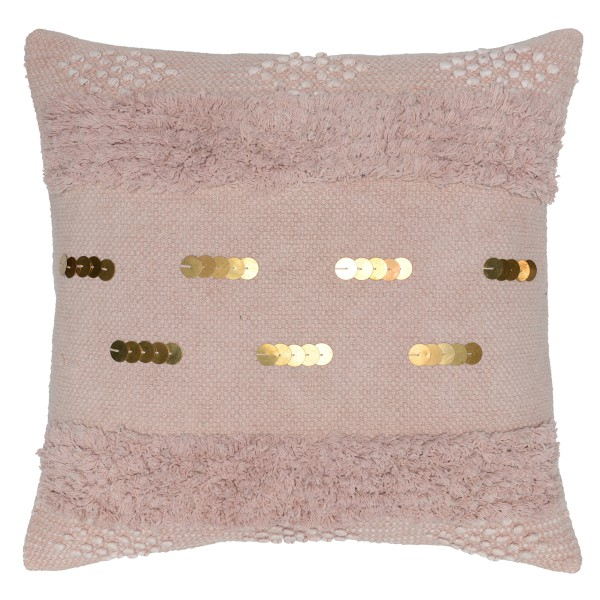 Sofia Blush and Gold Pillow
