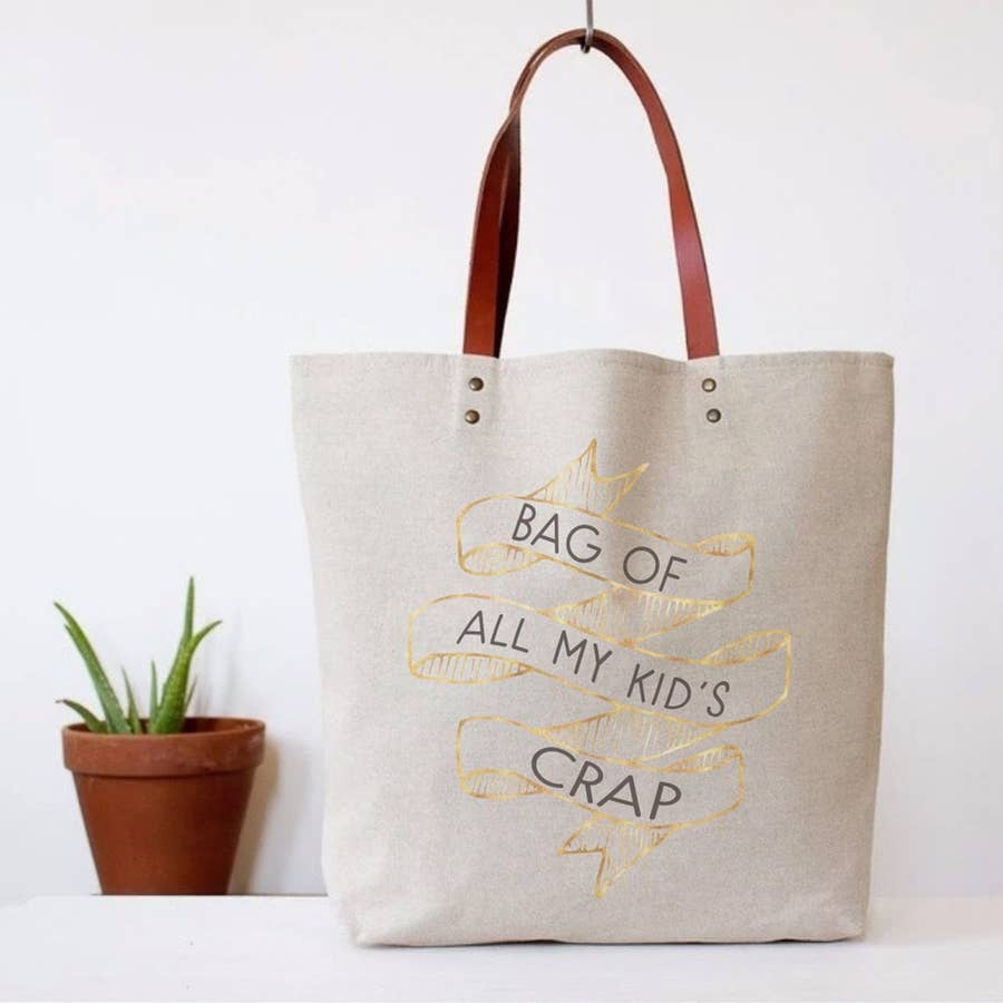kids crap tote bag