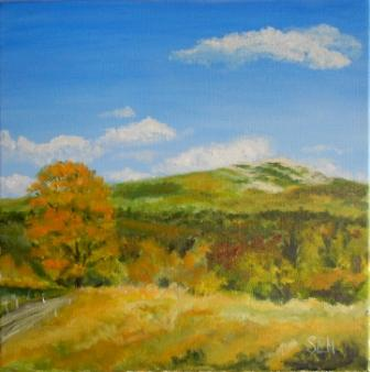 Monadnock Autumn Oil Painting